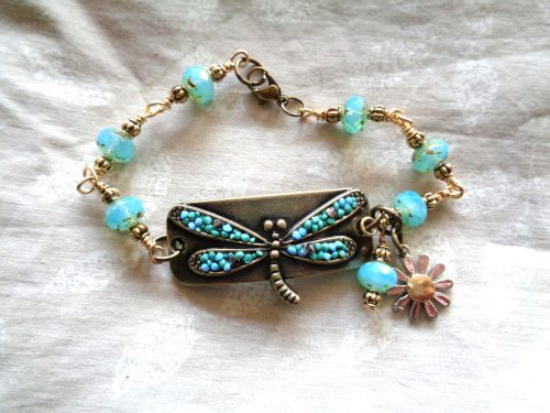 Bracelets with Chain and Wire, by Kathy Zee.